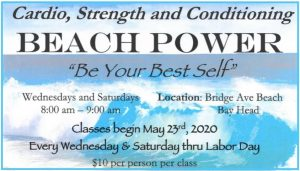 Beach Power: Cardio, Strength, and Conditioning @ Bridge Ave Beach